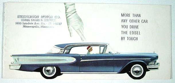 ... Minneapolis Phone: JA 9- 9697 MORE Tomlinson Motor Company Hwy 9 & Elm Street Morris Pegg Edsel Inc. East Main Street (US Rt #14) Owatonna Wenzlaff Auto ...