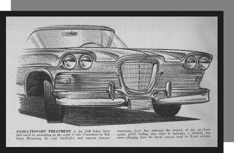Evolutionary treatment of the Edsel grille